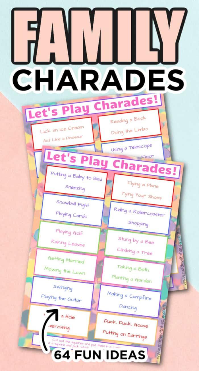 printable charades