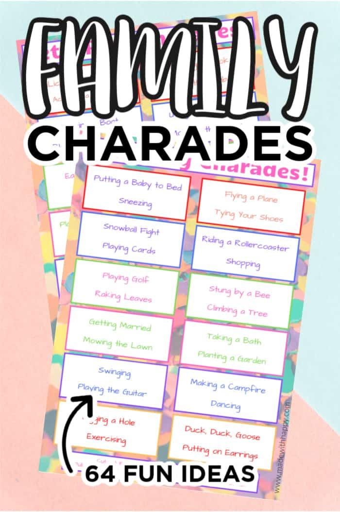 Printable Family Charades