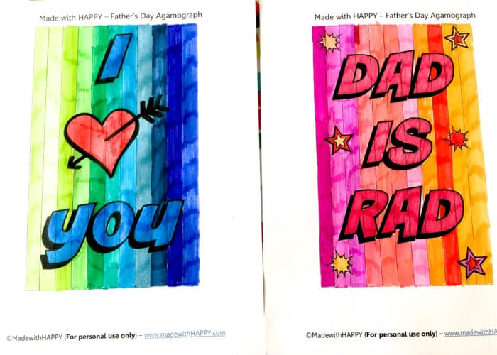 Printable Fathers Day Cards. Agamograph Father's Day Card. free fathers day cards. diy fathers day cards. homemade fathers day cards