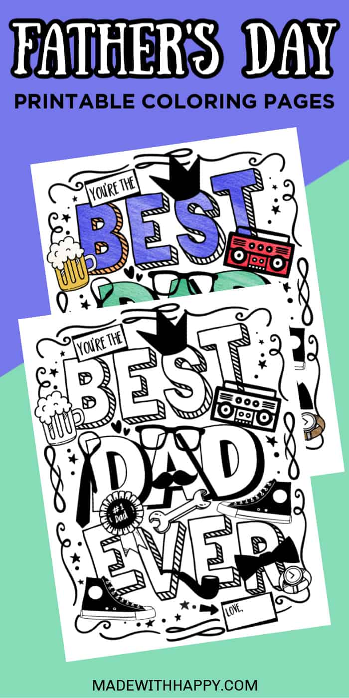 Free Father's Day Printable Coloring Pages