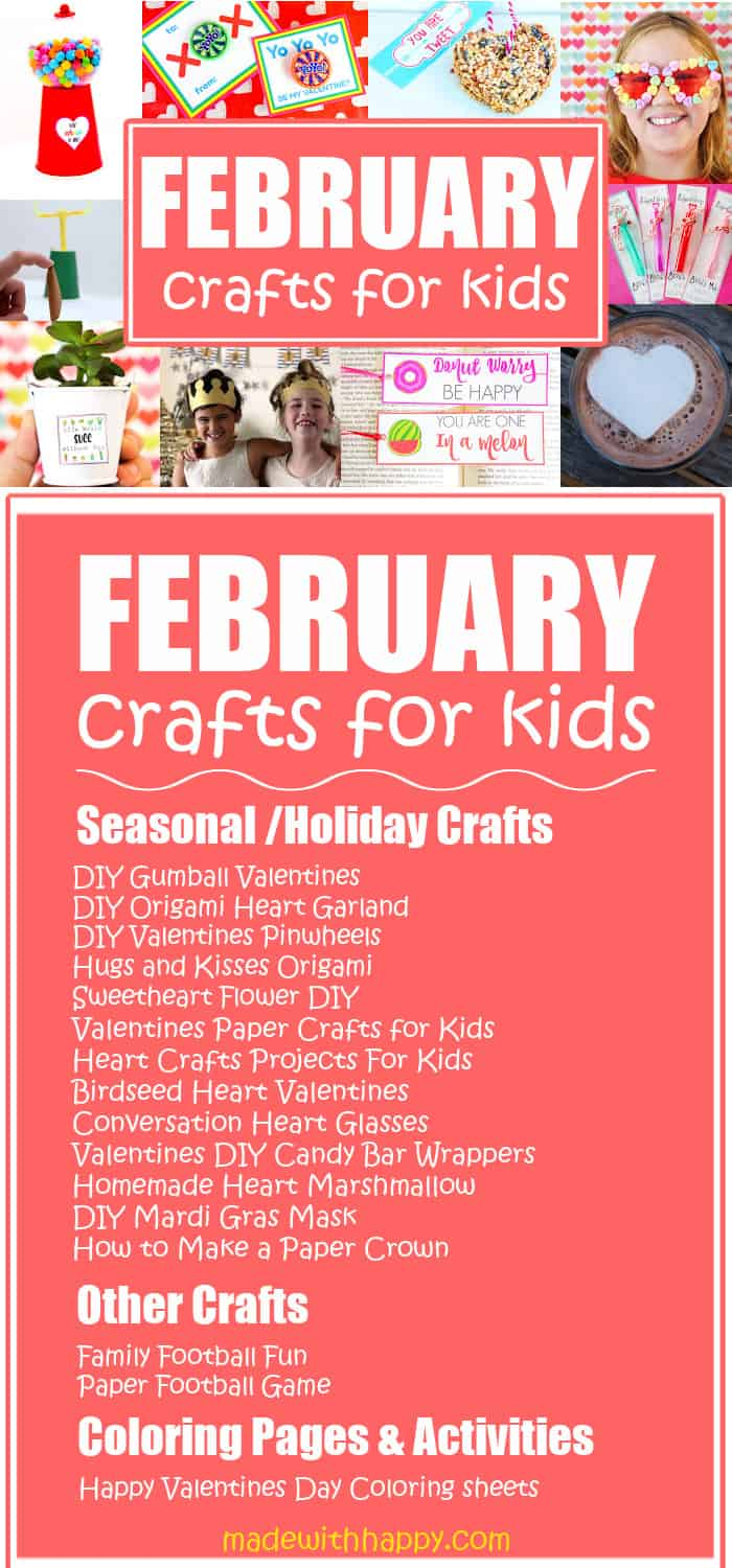 Craft Ideas for Kids in February