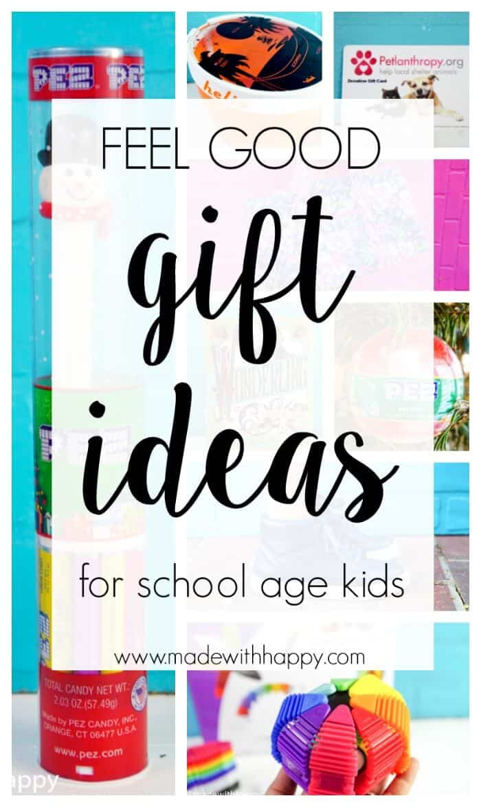 Feel Good Gift Ideas for kids.  Gift ideas for school aged kids.