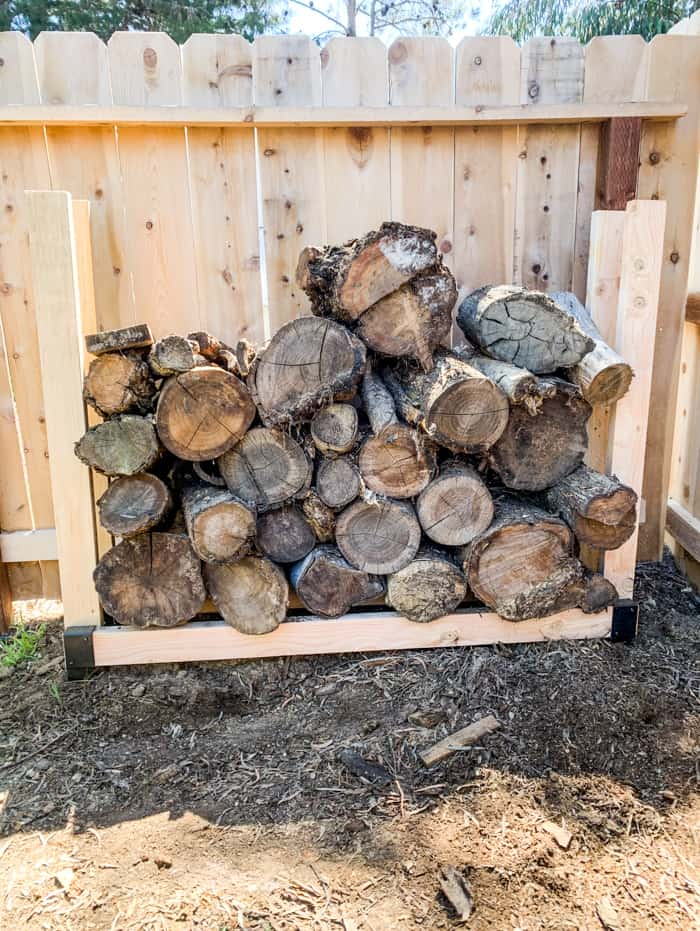 Stacking Firewood Outdoors
