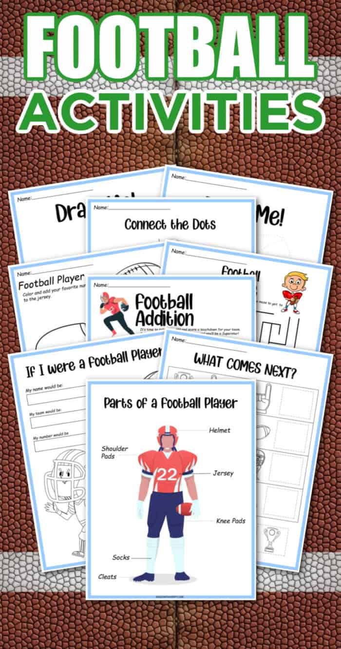 activities packets for kids about football