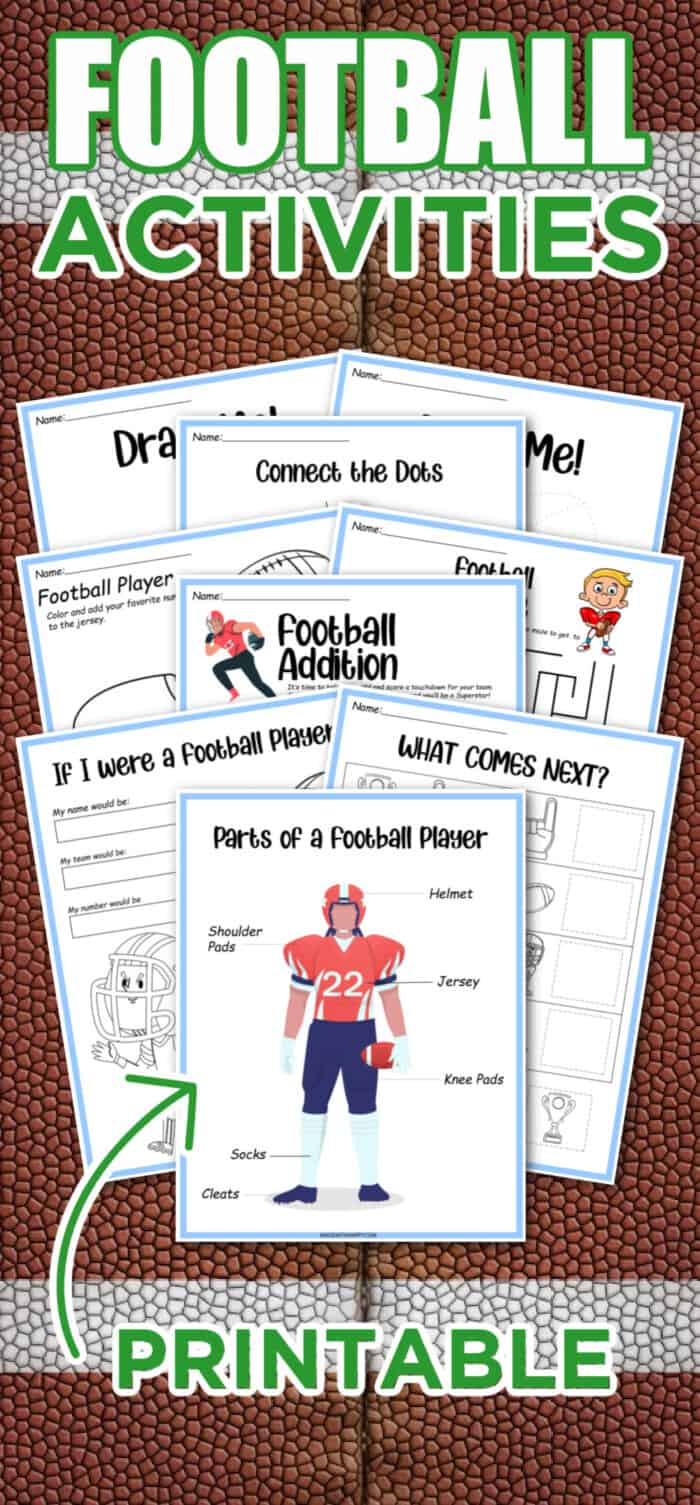 printable football activities