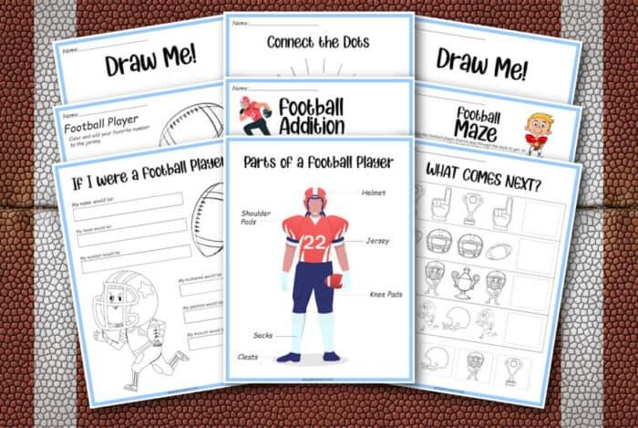 kids football printables