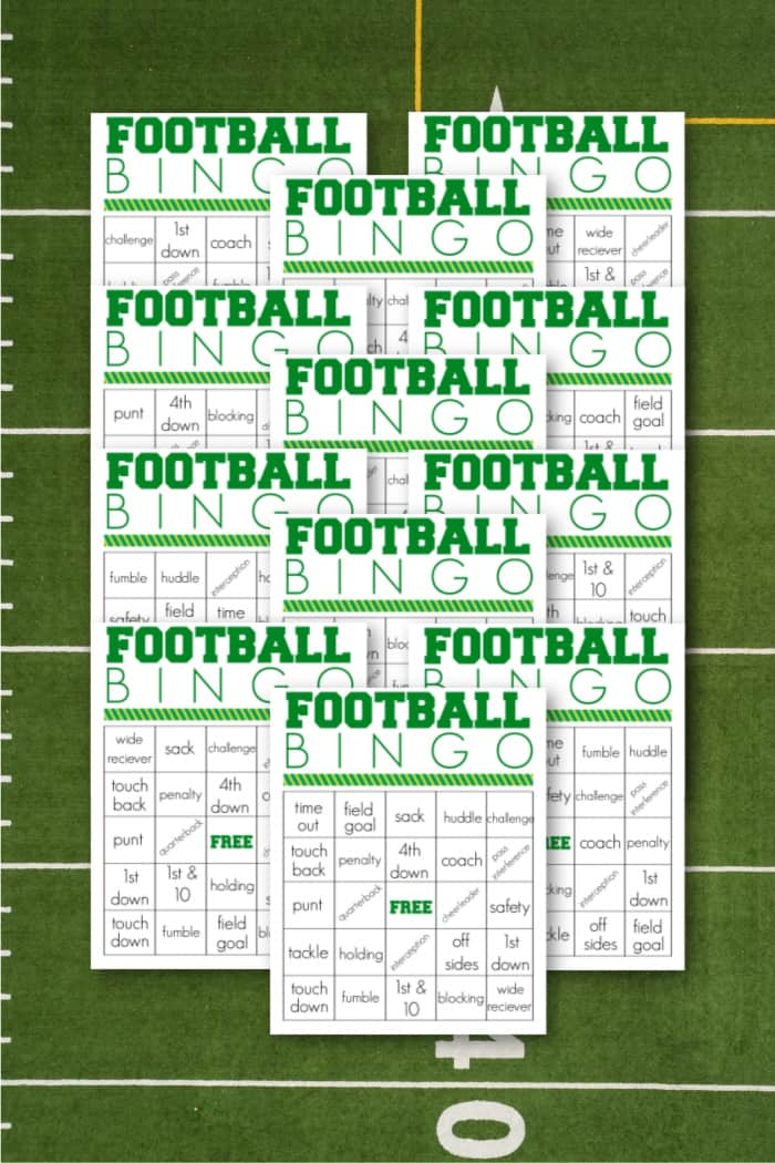 printable bingo cards for Footbal