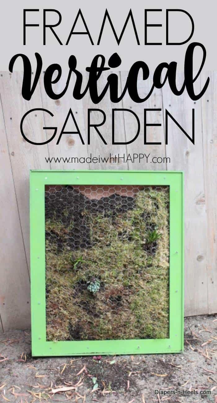 Framed Vertical Garden. Home Garden DIY Projects. Backyard projects. Vertical Garden DIY. How to make a vertical garden. DIY Framed Vertical Garden.