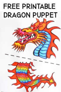 Free Printable Dragon Puppet