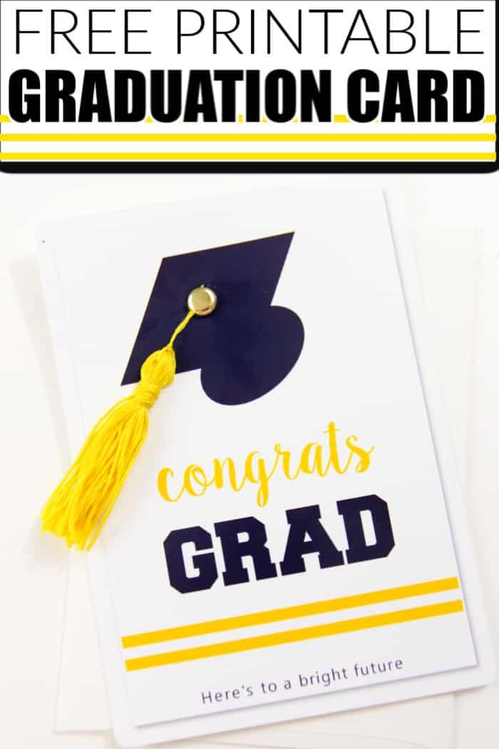 Free Printable Graduation Card