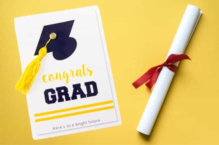 Free Printable Graduation Card with Tassel