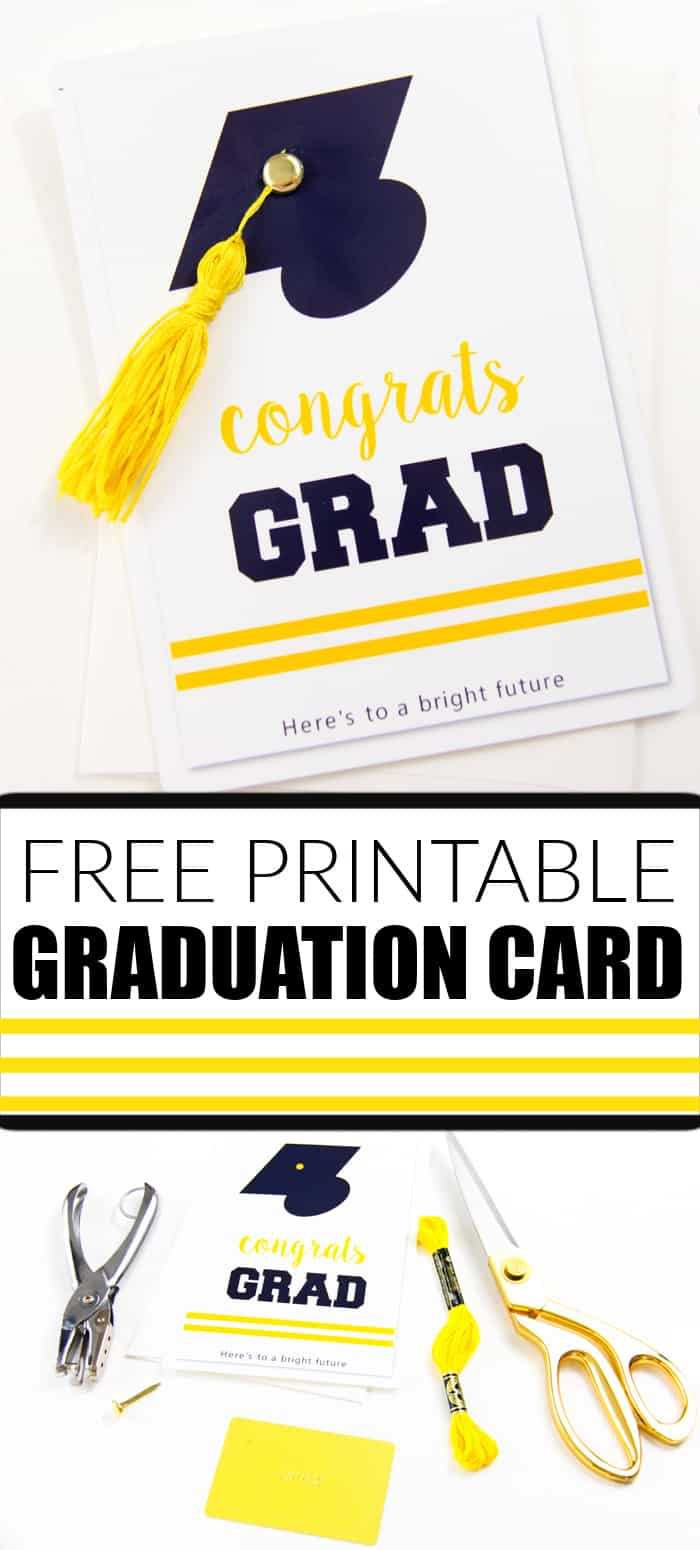 Free Printable Graduation Card With Tassel For Any Level Graduation