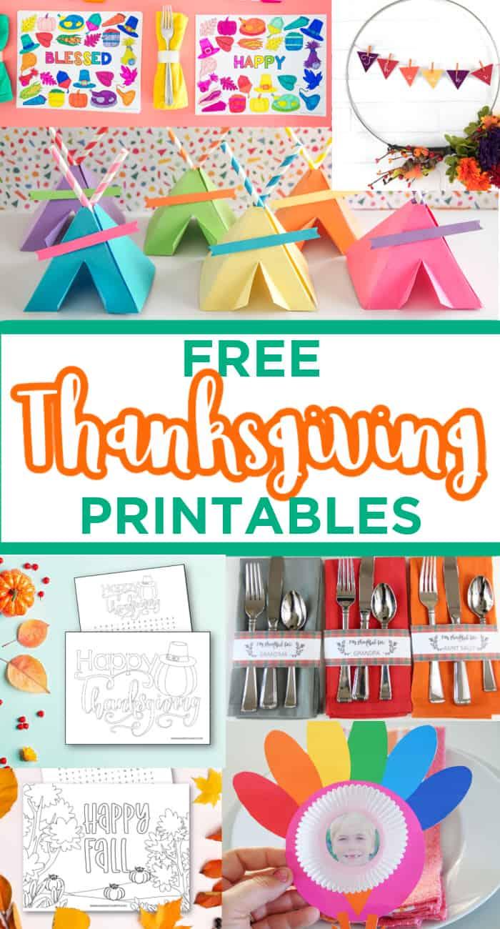 Thanksgiving Free Printable Kids Crafts