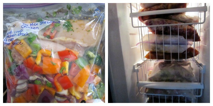 One of our completed meals and just a portion of my very full freezer.