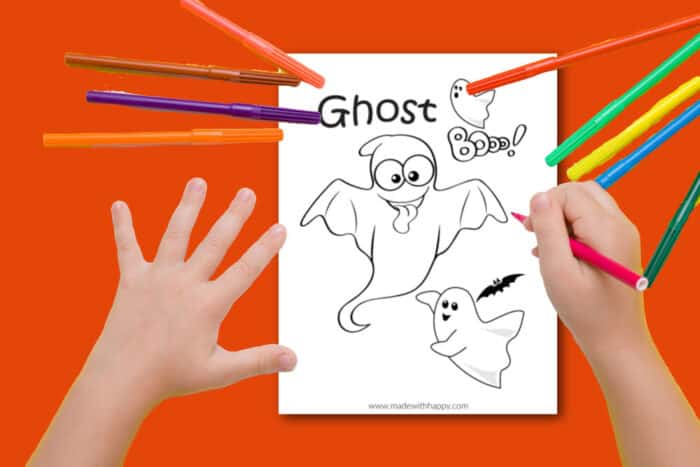 ghost coloring sheet