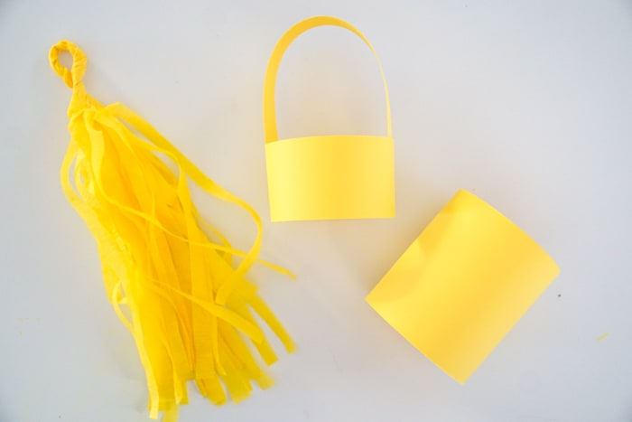paper lantern top with a paper circle and diy tassel garland