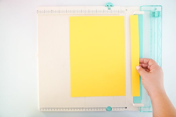 cutting paper into strips