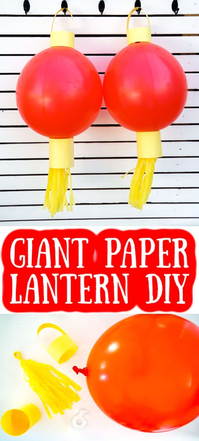Two Giant Paper Lantern DIY