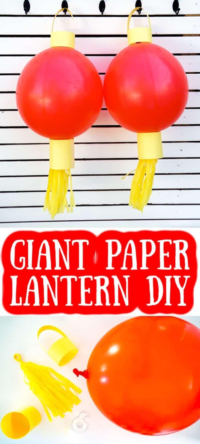 Two Giant Paper Lantern DIY