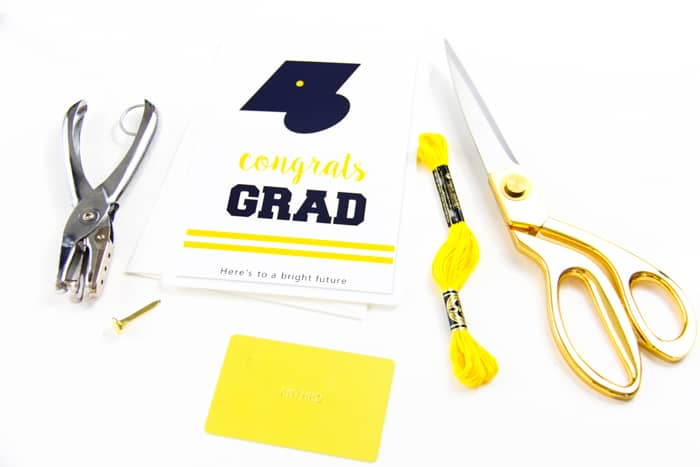 Supplies to Make a Graduation Card