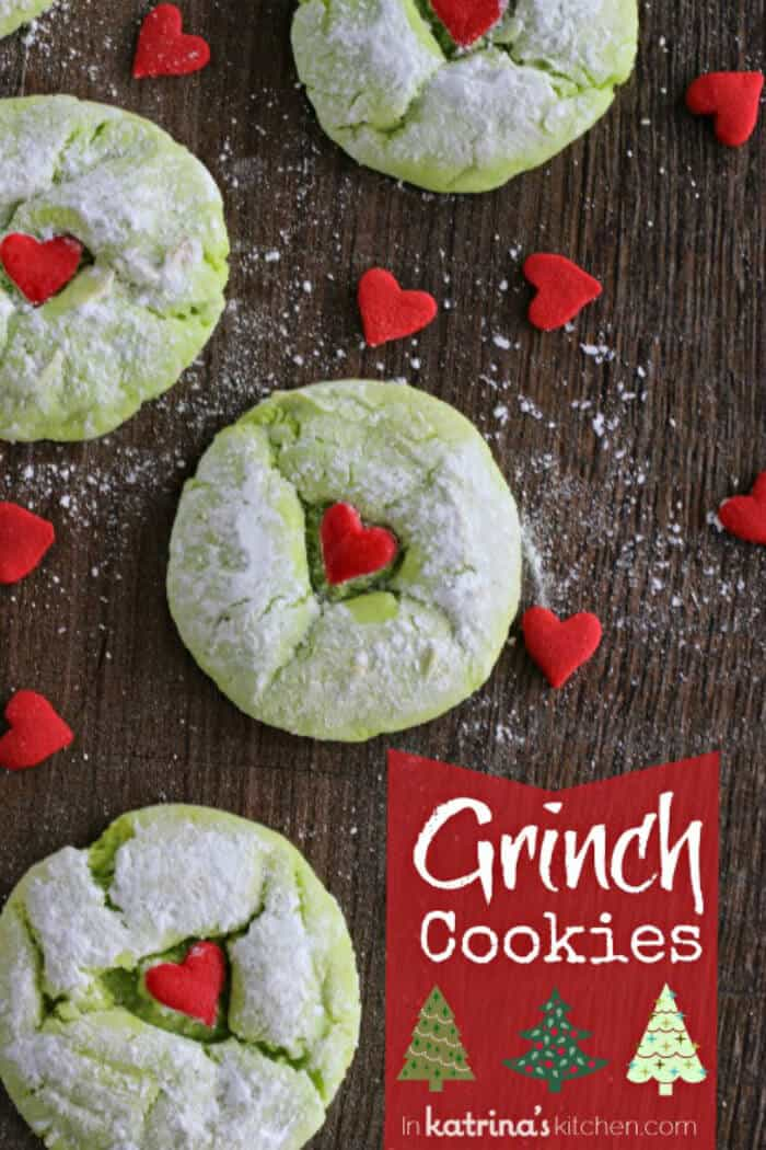 Grinch Cookies - In Katrina's Kitchen | 20+ Holiday Cookies | Christmas Cookie Recipes | www.madewithHAPPY.com