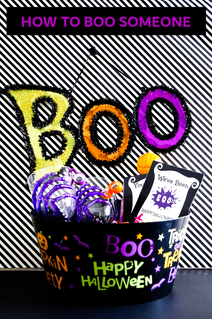 How to boo someone. Boo Bucket filled with halloween goodies and a boo letter printable