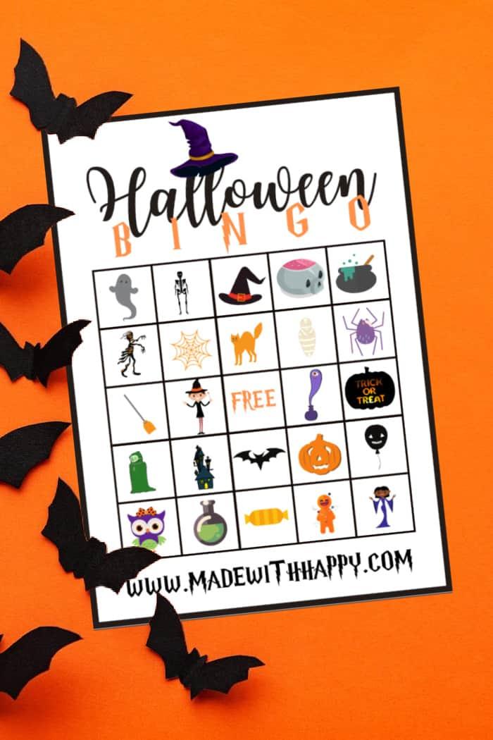4 of 4 Halloween Bingo Cards