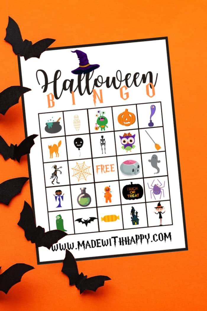 3 of 4 halloween bingo cards