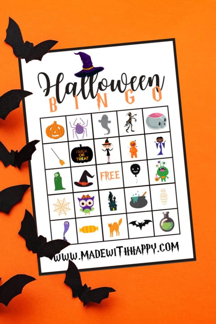 2 of 4 halloween bingo cards