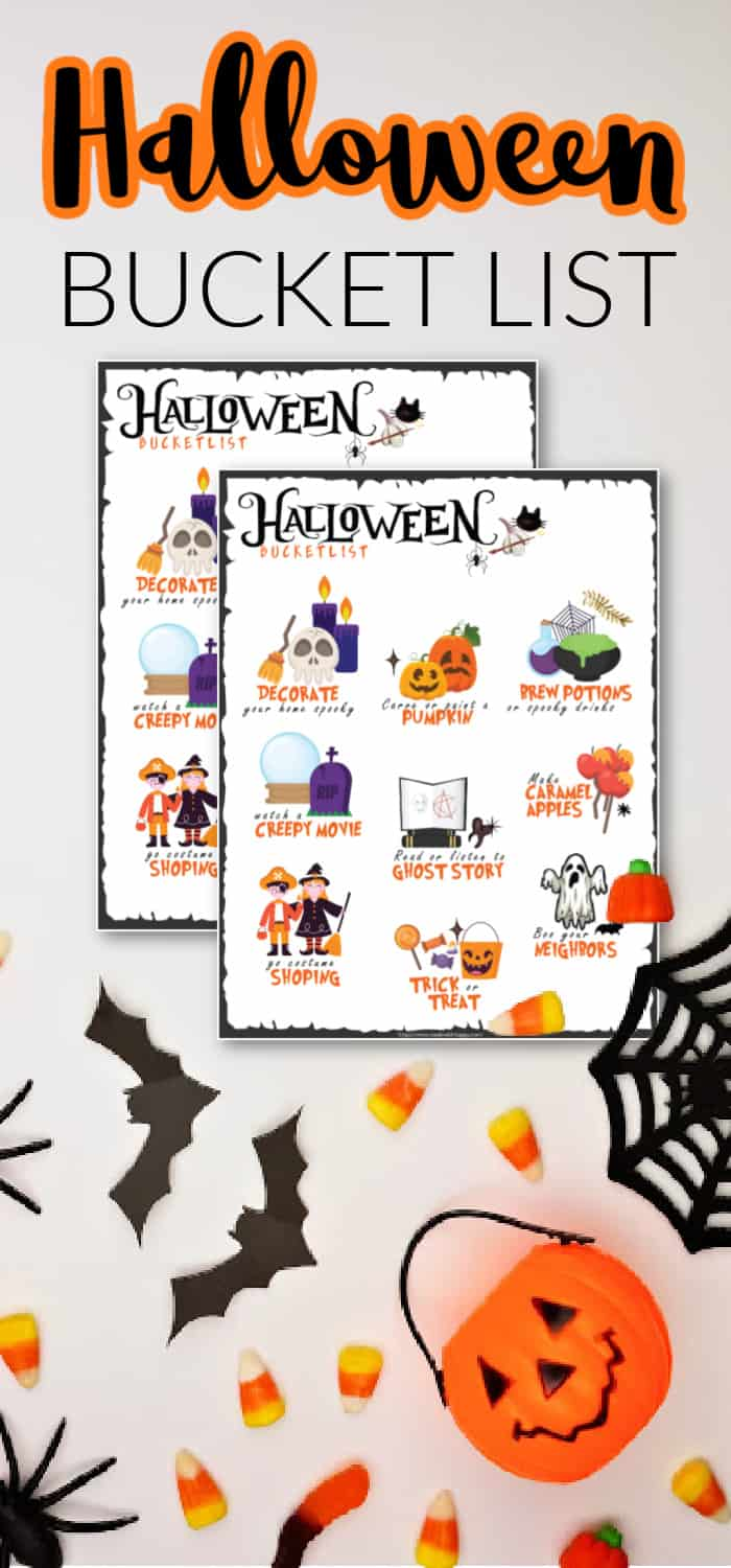 Free Printable Halloween Bucket List