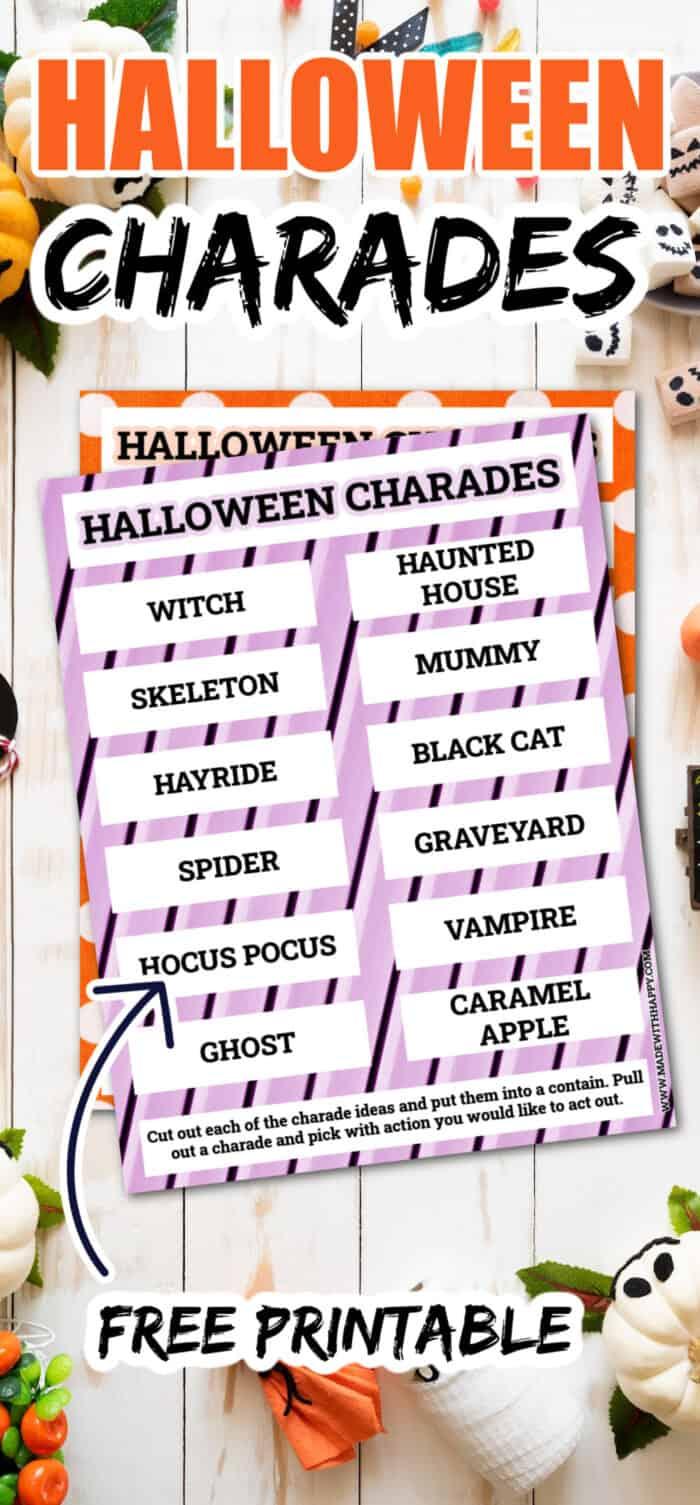 Fun Printable Halloween Charades