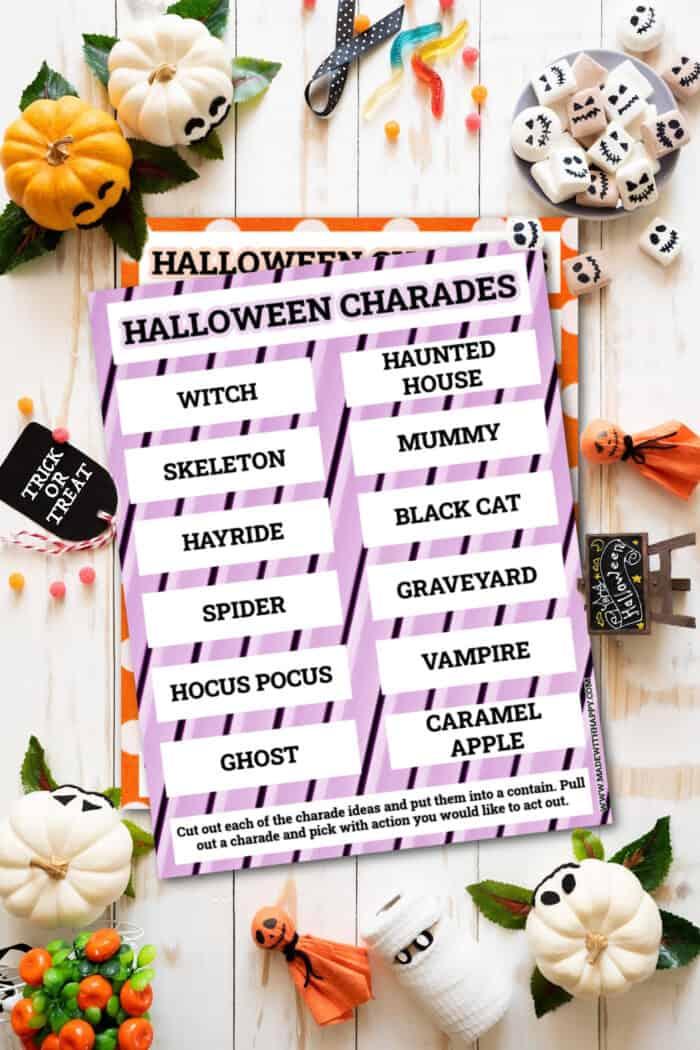 Halloween Charade Printables