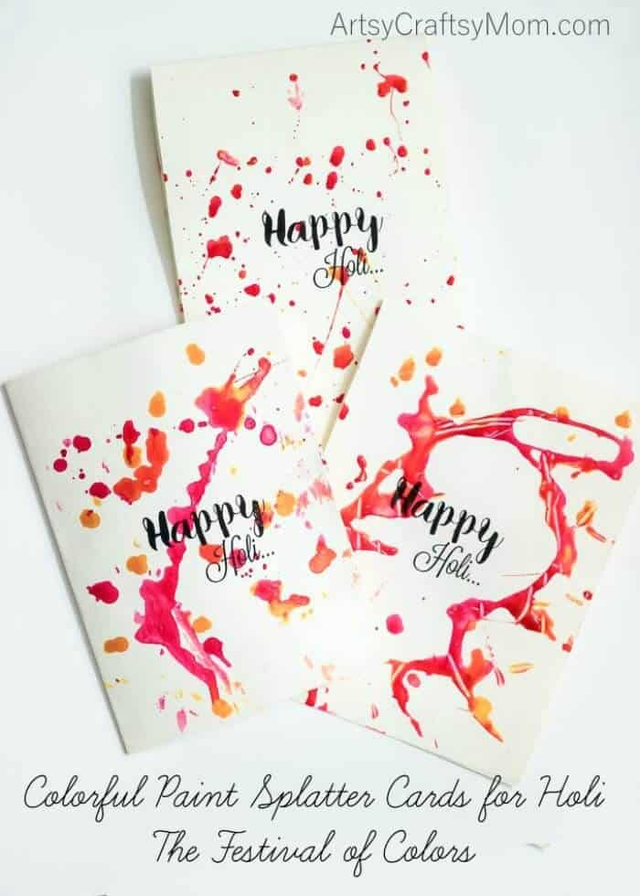 India - Colorful Paint Splatter - Artsy Craftsy Mom