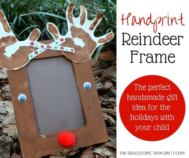 Adorable Handprint Reindeer Craft Frame for the Holidays