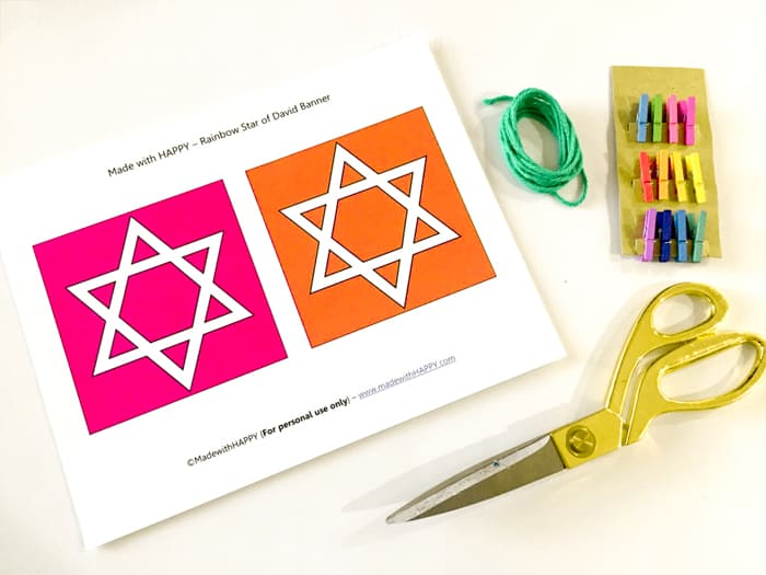Bright Color Hanukkah Banner