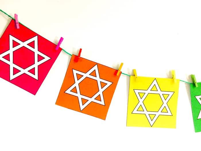 Rainbow Star of David banner