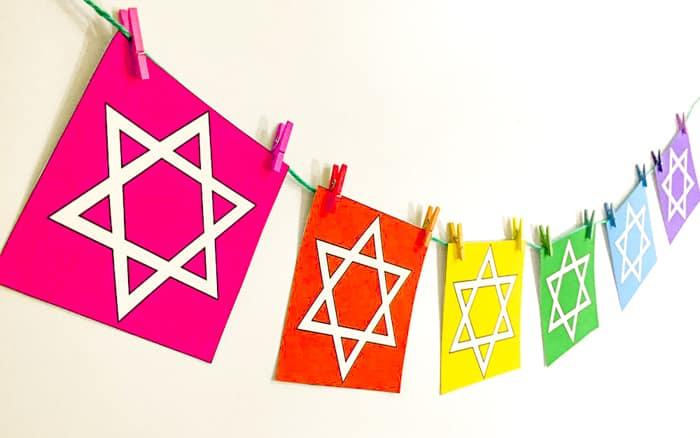 Bright Color Printable Hanukkah Banner