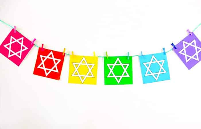 Printable Rainbow Star of David
