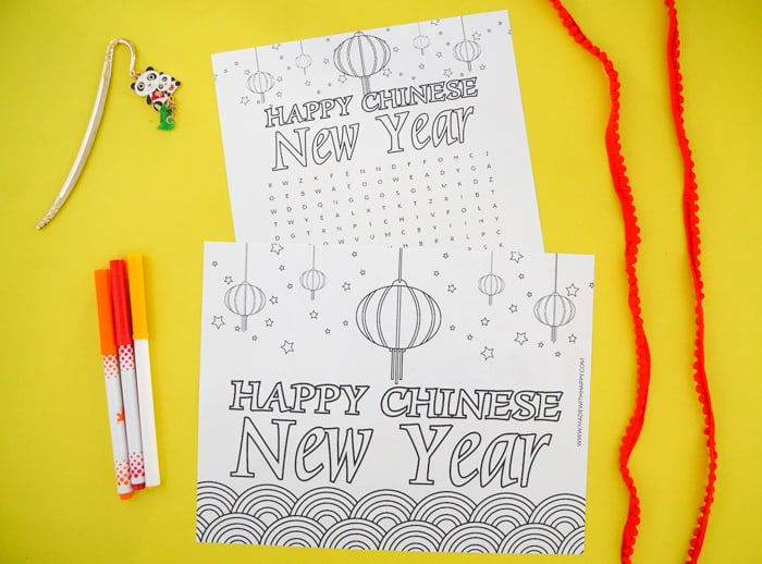 Coloring Pages for Chinese new Year