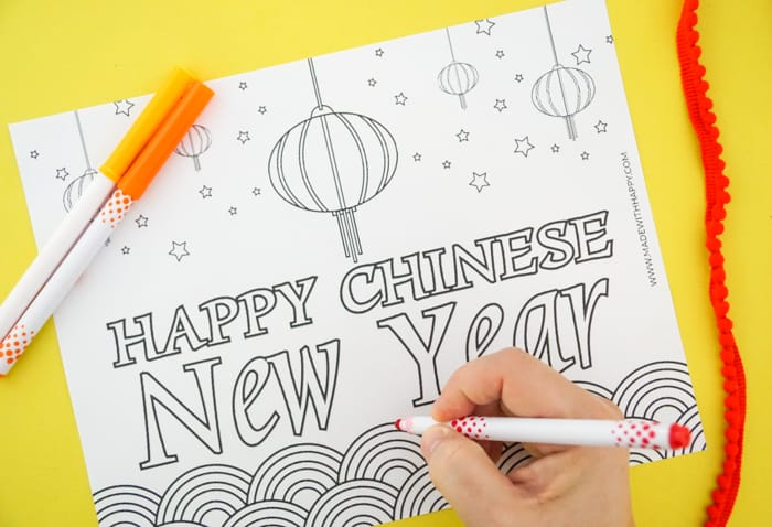 Chinese New Year Coloring Fun