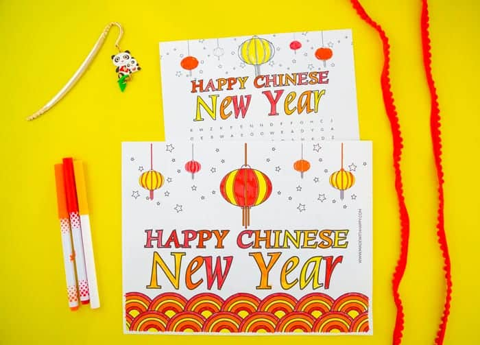 Colored Chinese new Year Kids Activities