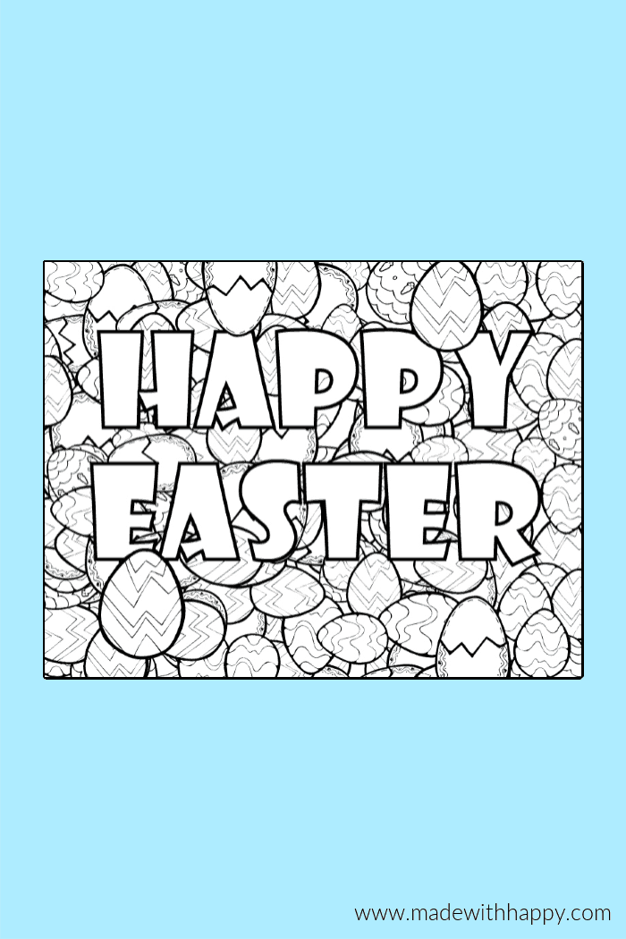 Free Printable Easter Coloring Pages Fun Easter Coloring Sheets