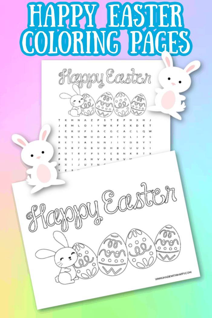 Happy Easter Coloring Pages For Kids Free Printable