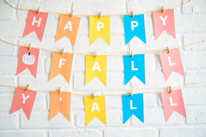 Happy Fall Yall Printable Sign