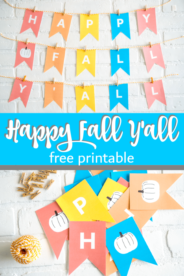 HAPPY FALL YALL SIGN I craft diy crafting blogger craft