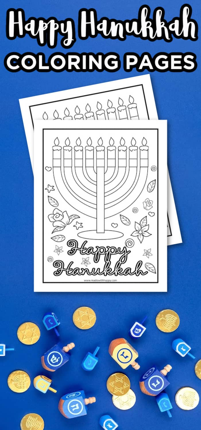 Happy Hanukkah Coloring Pages Made With Happy