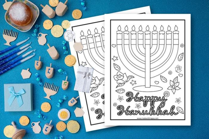 Happy Hanukkah Coloring