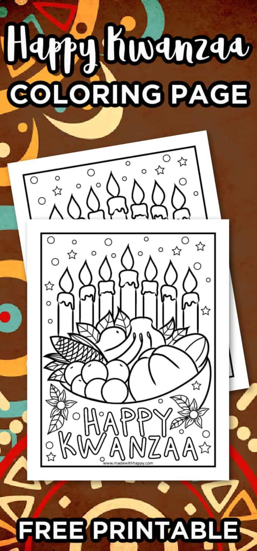 Happy Kwanzaa Coloring Page