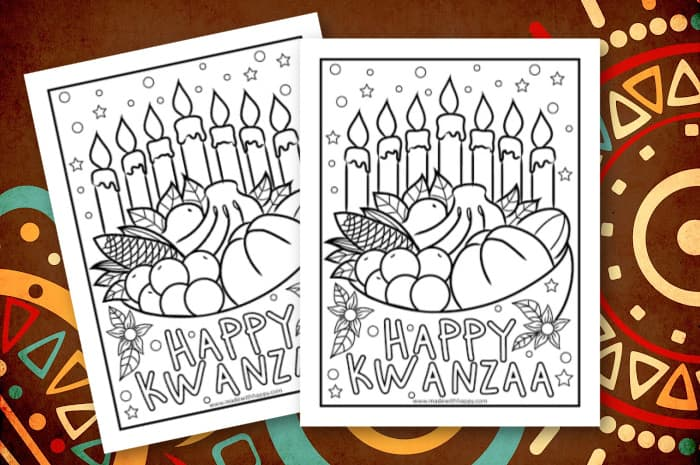 Free Printable Kwanzaa Coloring Page for Kids