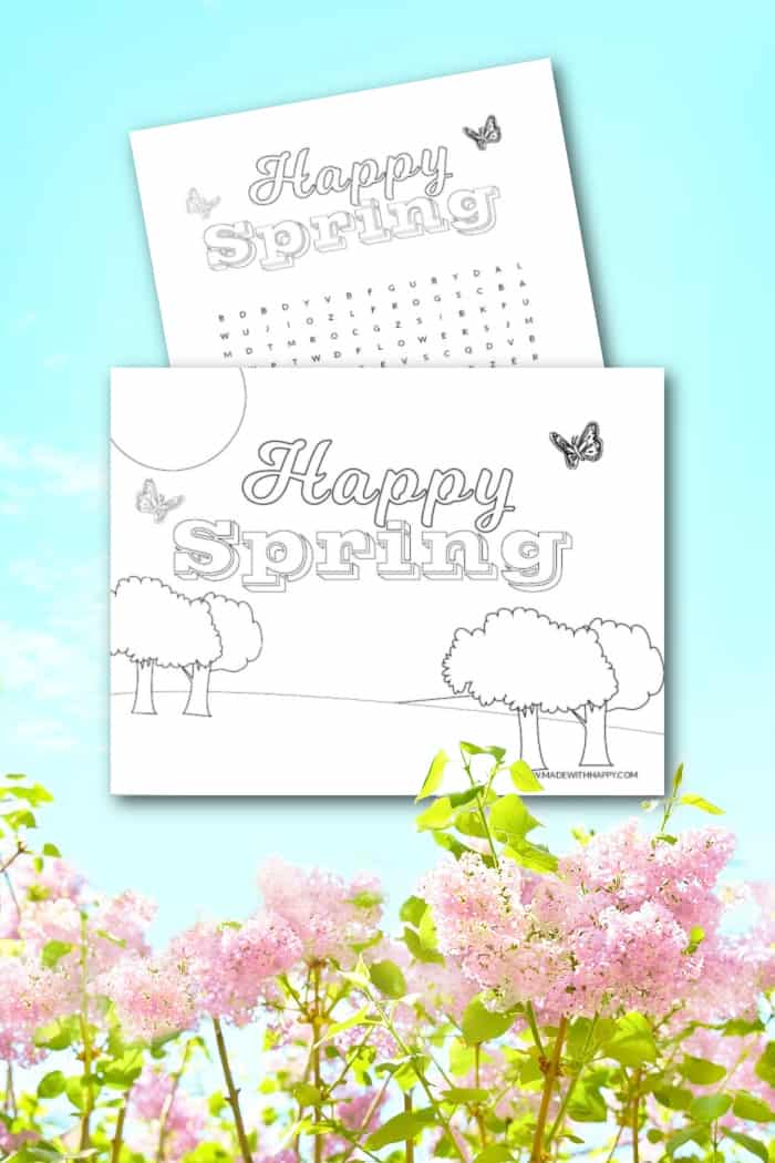 spring coloring sheets printable